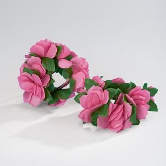 Flower Scrunchies Pair - Pink