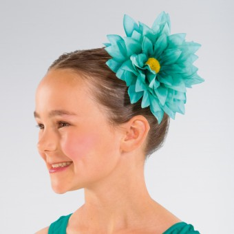 Flower Hair Clip Mint Green