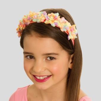 Fabric Flower Headband Rainbow