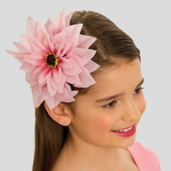 Large Dusky Pink Flower on Clip and elastic