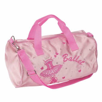 Sac Tonneau Katz en Satin Rose