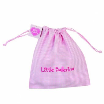 Little Ballerina Large Gingham Bag Pink