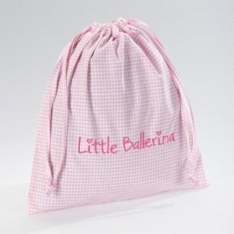 Little Ballerina Large Gingham Bag Pink
