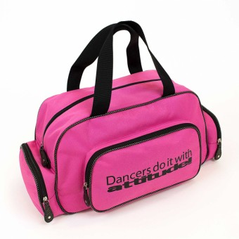 "Pink Sparkle ""Dancers do it with attitude!"" Holdall"