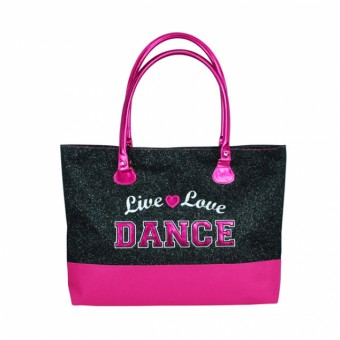 Live Love Dance Tote Bag-Black
