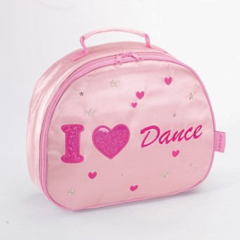 Trousse de toilette ovale Katz en satin « I Love Dance »