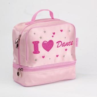 Sac de danse Katz en satin « I Love Dance »