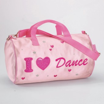 Sac tonneau Katz en satin « I Love Dance »