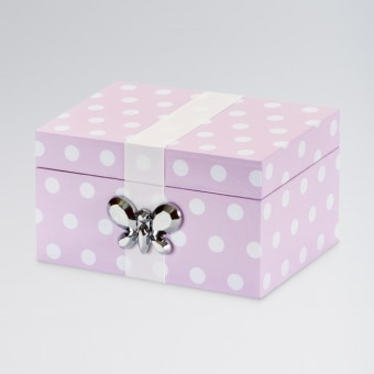 Erin Polka Dot Musical Jewellery Case