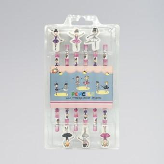 Set de 6 Lápices con Bailarinas