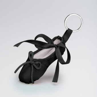 Katz Pointe Shoe Keyring Black