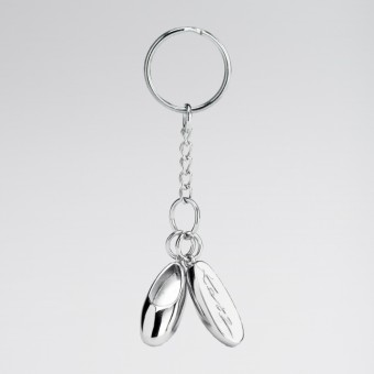 Katz Metal Ballet Shoes Keyring Double