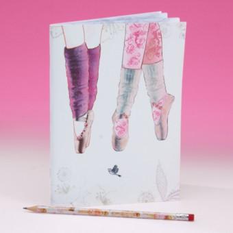 Pointe Shoe Design Soft Notebook