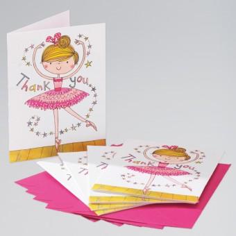Rachel Ellen Small Ballerina Thank You Cards (Pk 5)