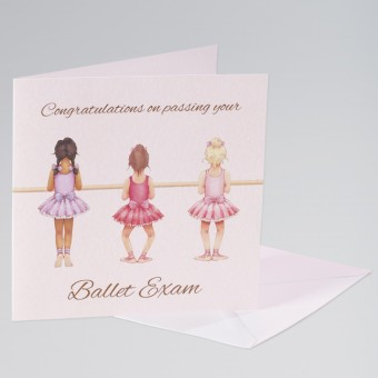 Little Ballerina Congratulations Single Card