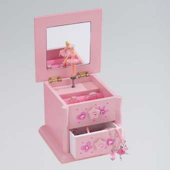 Katz Small Wooden 2 Drawer Jewellery Box
