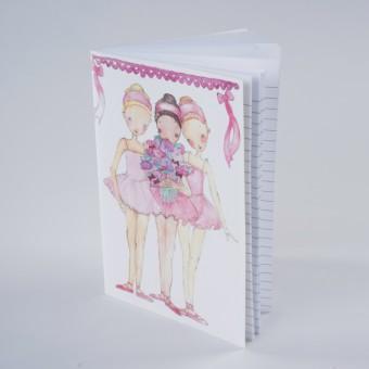 Ballerina Trio Notebook A5