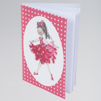 Ruby Red Dancer Notebook A6