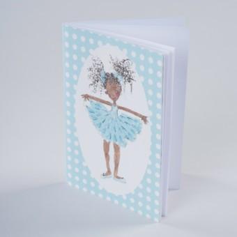 Sky Blue Dancer Notebook A6