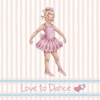 Little Ballerina  Stripe Melissa card