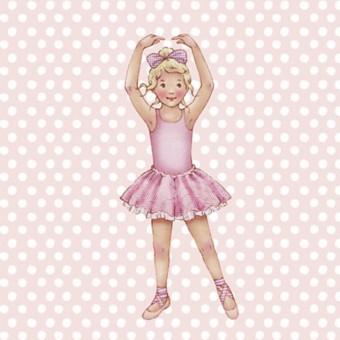 Little Ballerina Pink spot Melissa card