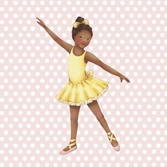 Little Ballerina Pink spot Grace card
