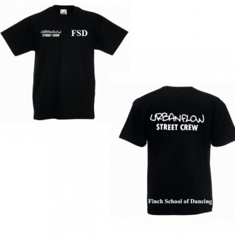 Fruit of the Loom Kids Value T-Shirt (Black) with Finch School Of Dancing Logo