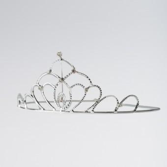Oval Diamante Tiara Silver