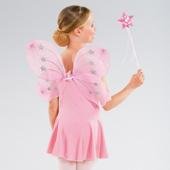 Pink Star Wings and Wand Set