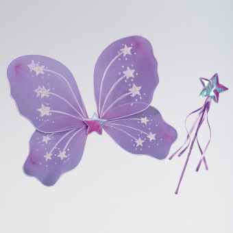 Lilac Star Wings and Wand Set