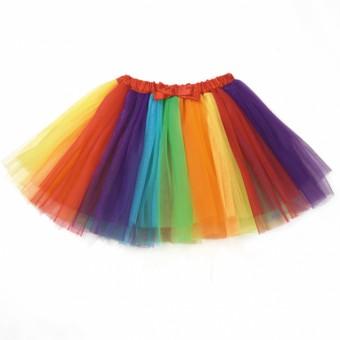Rainbow Multi Coloured Tutu Skirt Child One Size