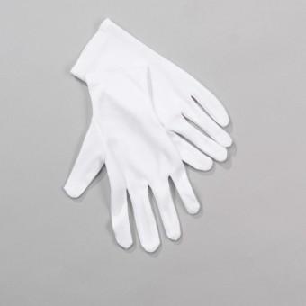 White Short Gloves - Adult