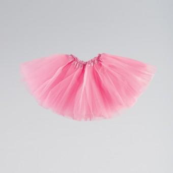 Triple Layered Tutu Skirt Child One Size Pink
