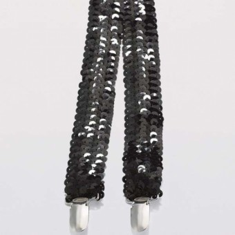 Black Sequin Braces