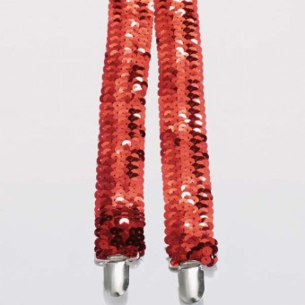 Red Sequin Braces