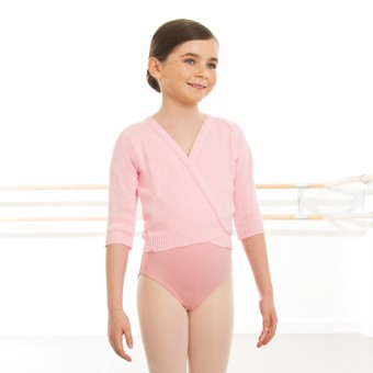 1st Position 3/4 Sleeved X-Over (Pale Pink)